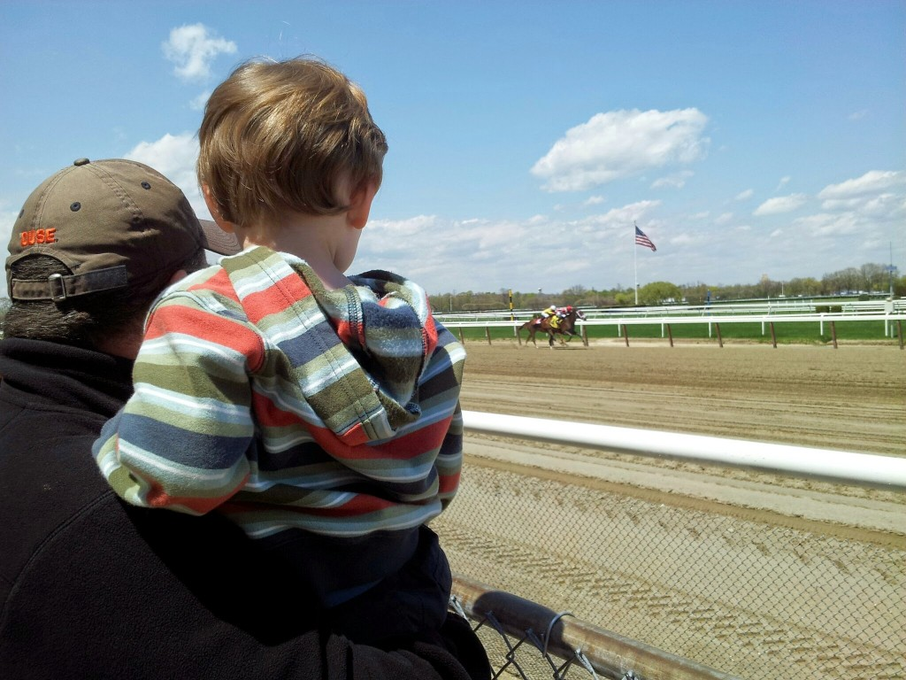 Caved i took my child to a race track and it was kind of awesome