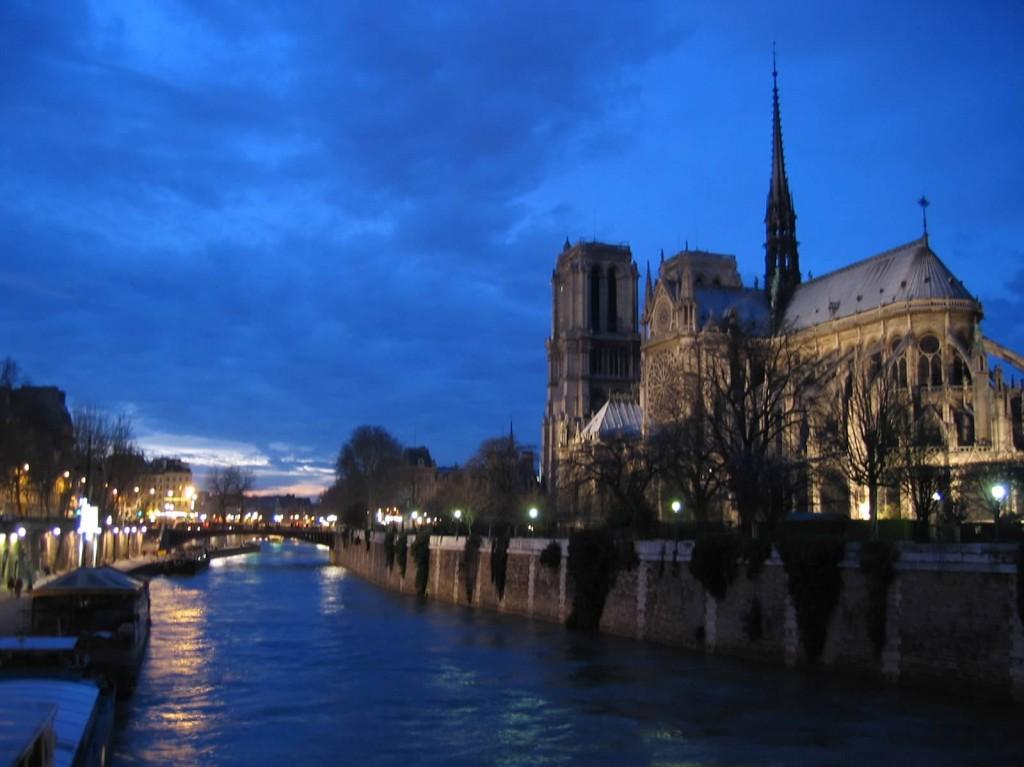 Paris Sunset Notre Dame