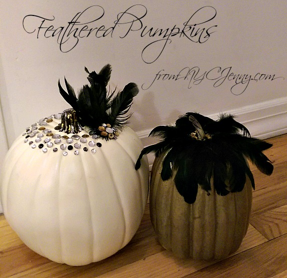 feathered pumpkins wedding nycjenny