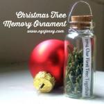 Easy DIY Christmas Tree Memory Ornament